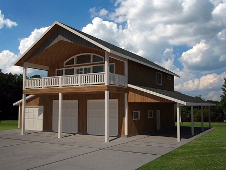 Garage apartment design 012g 0056 houses pinterest Double garage with room above