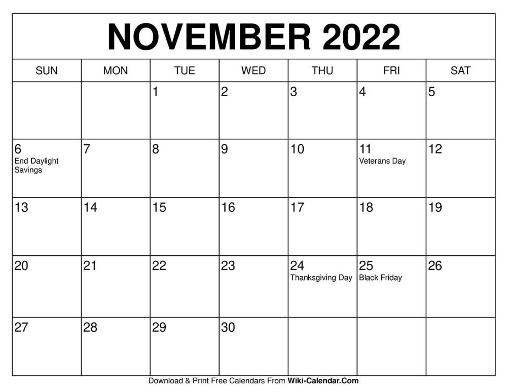 Calendar November 2022.November 2022 Calendar Printable Calendar Template Calendar Template Calendar Printables