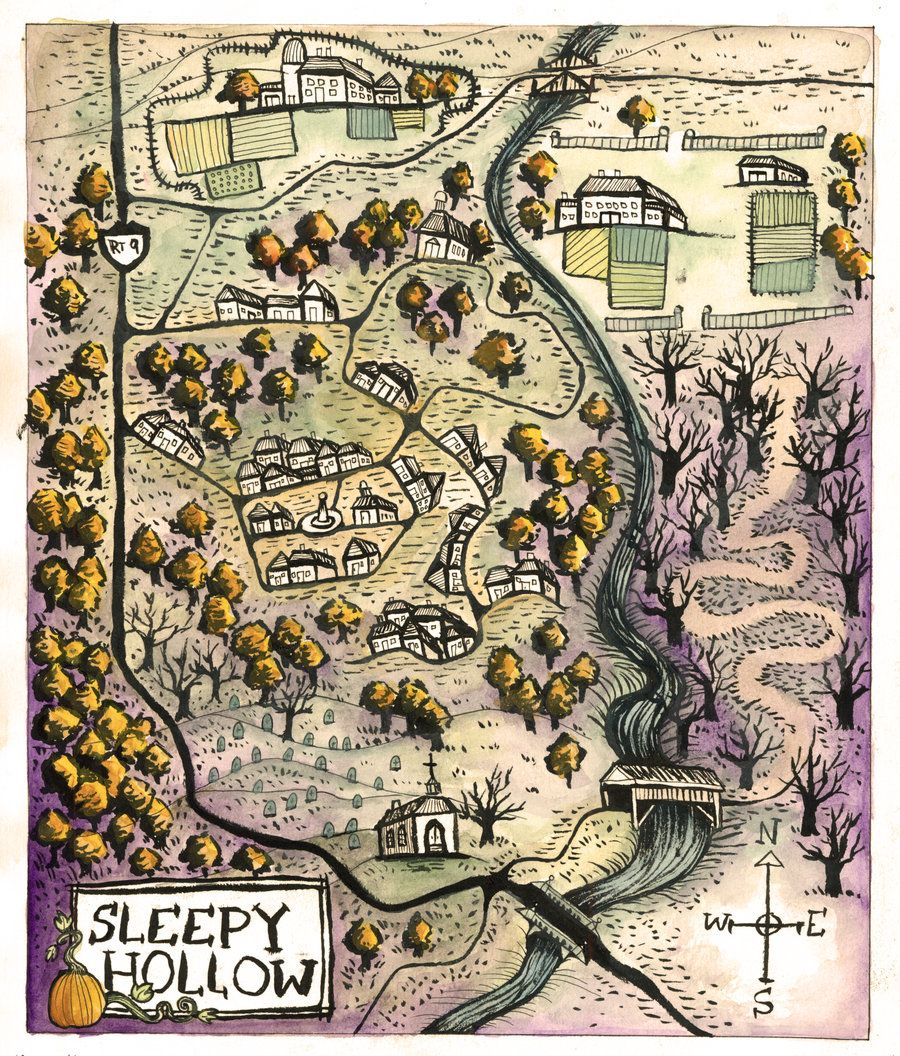 Map Of Sleepy Hollow By Mernolan Con Imagenes Cine En Casa
