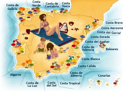 Costas De España Mapa.Costas De Espana Buscar Con Google Espana Turismo