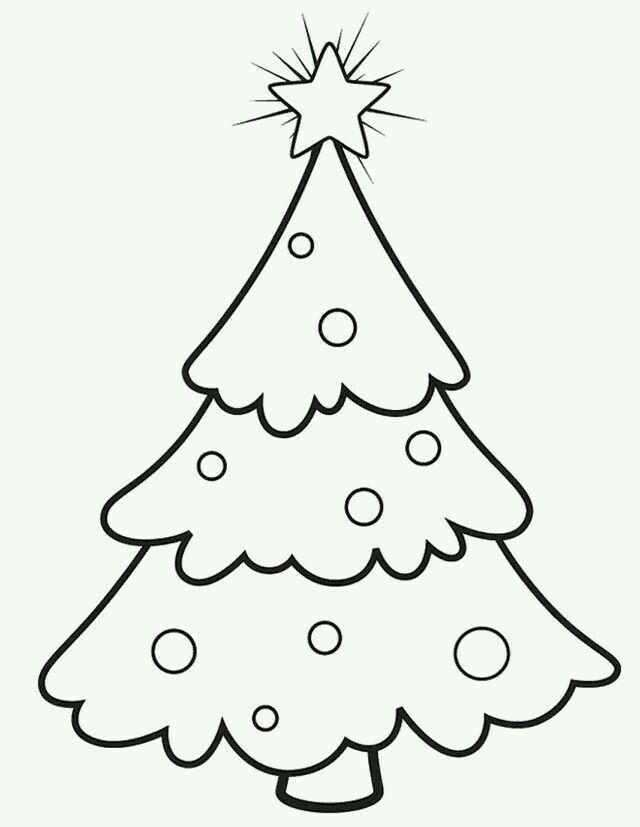 Los Pequenos Arbol De Navidad Para Colorear Dibujo Navidad Para Colorear Manualidades Navidenas