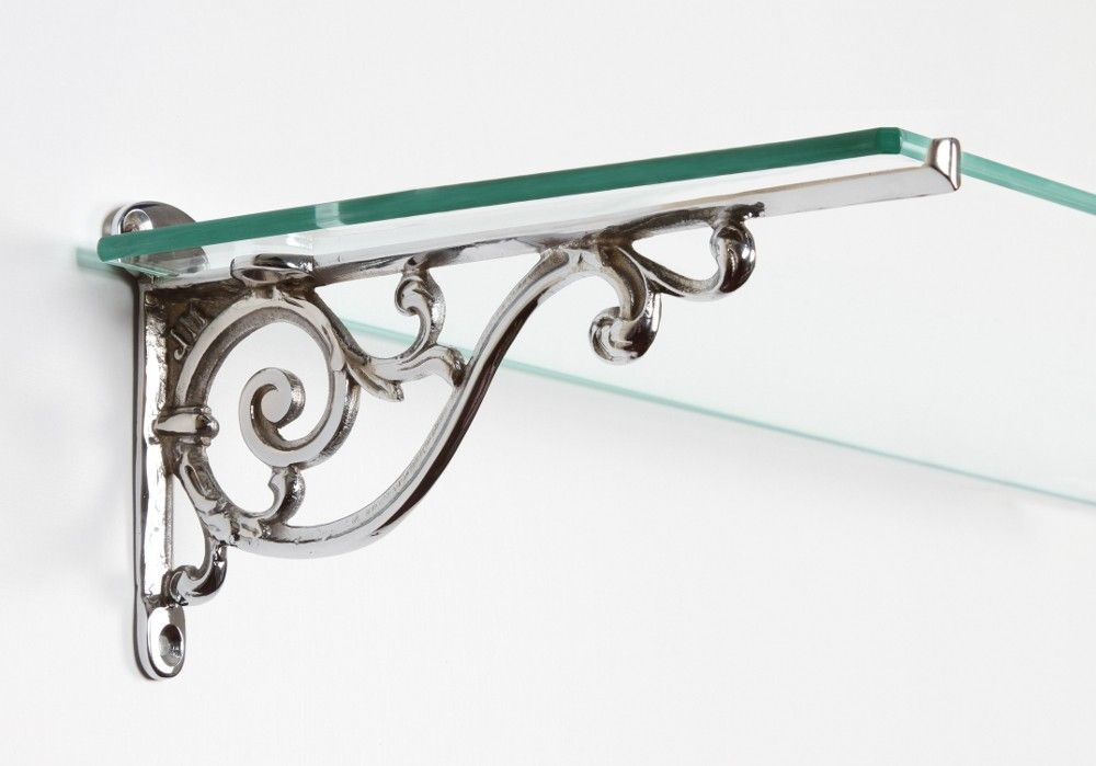 Torrington Chrome Wall Bracket (21cm x 11.5cm) Glass