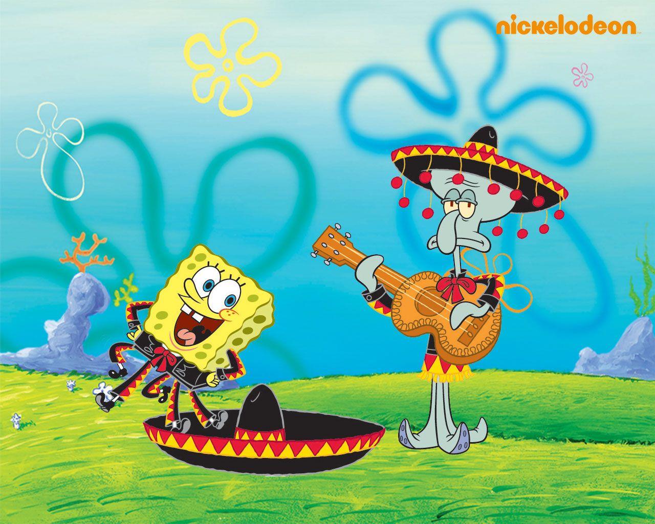 Spongebob Squarepants Wallpaper: Spongebob & Squidward