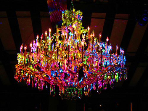 colorful chandelier lighting.
