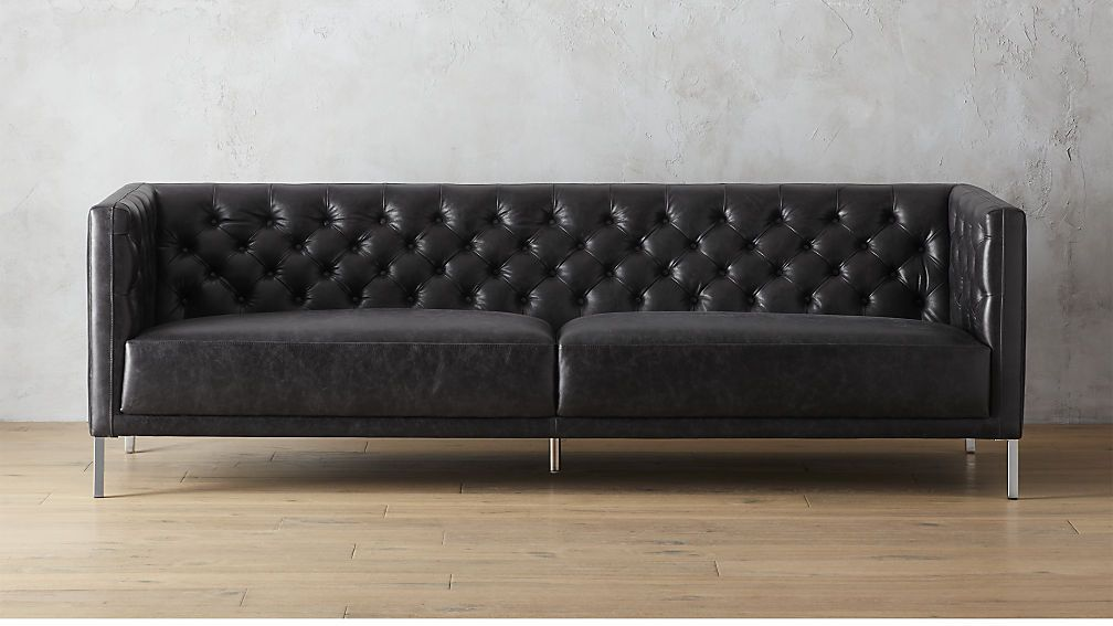 Shop savile leather sofa. We edged up the classic Chesterfield sofa ...
