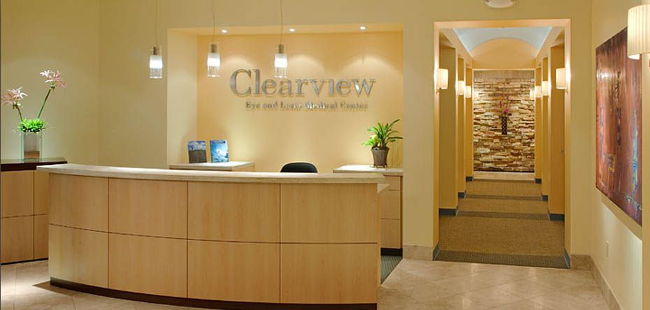 Eye Clinic Interiors Clearview Eye Laser Medical Center San Diego Ca Photo 1 Medical Office Interior Medical Clinic Design Clinic Interior Design
