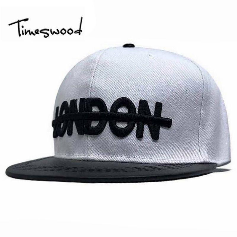 New Arrival Modern Embroidery Baseball Cap Letter London Adjustable Hip Hop  Hats Flat PU Brim Hat ae4b13ddc64c
