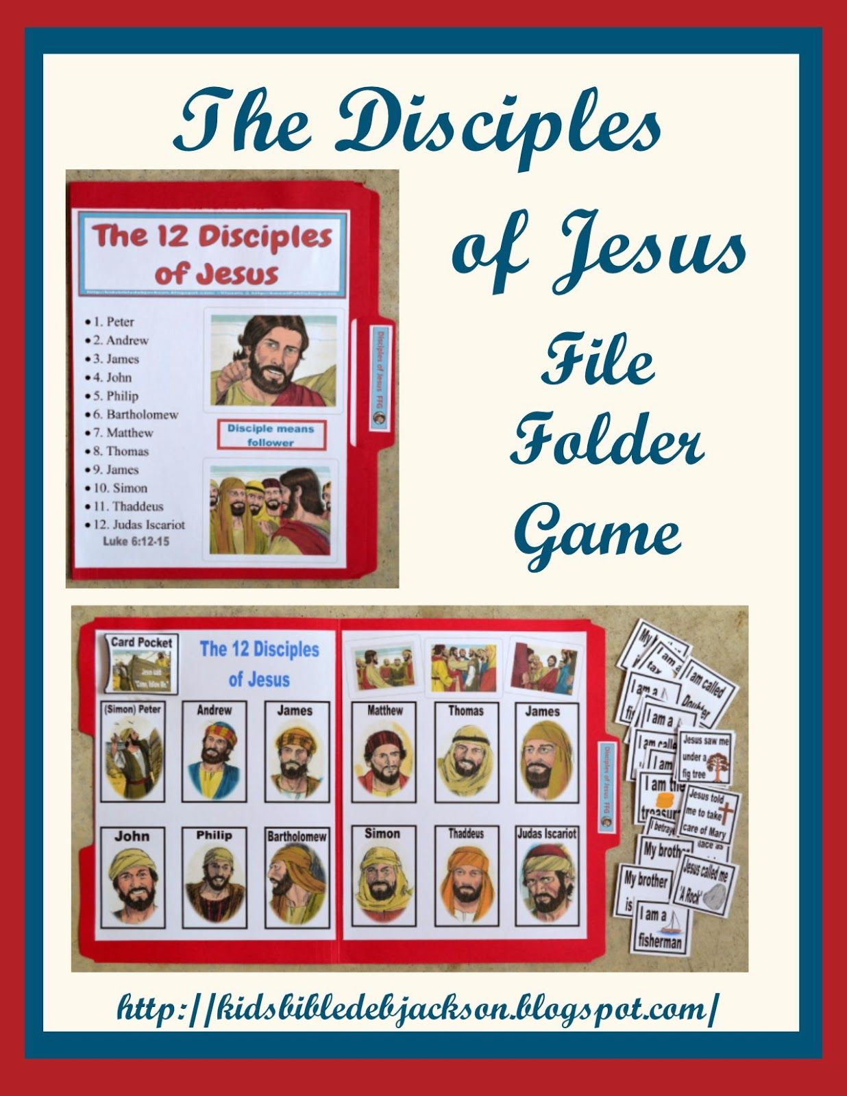 Disciples Of Jesus File Folder Game Printable Bible