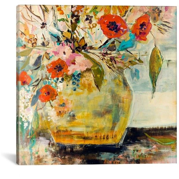Poppies and More Canvas Art Print (420 PEN) ❤ liked on Polyvore ...