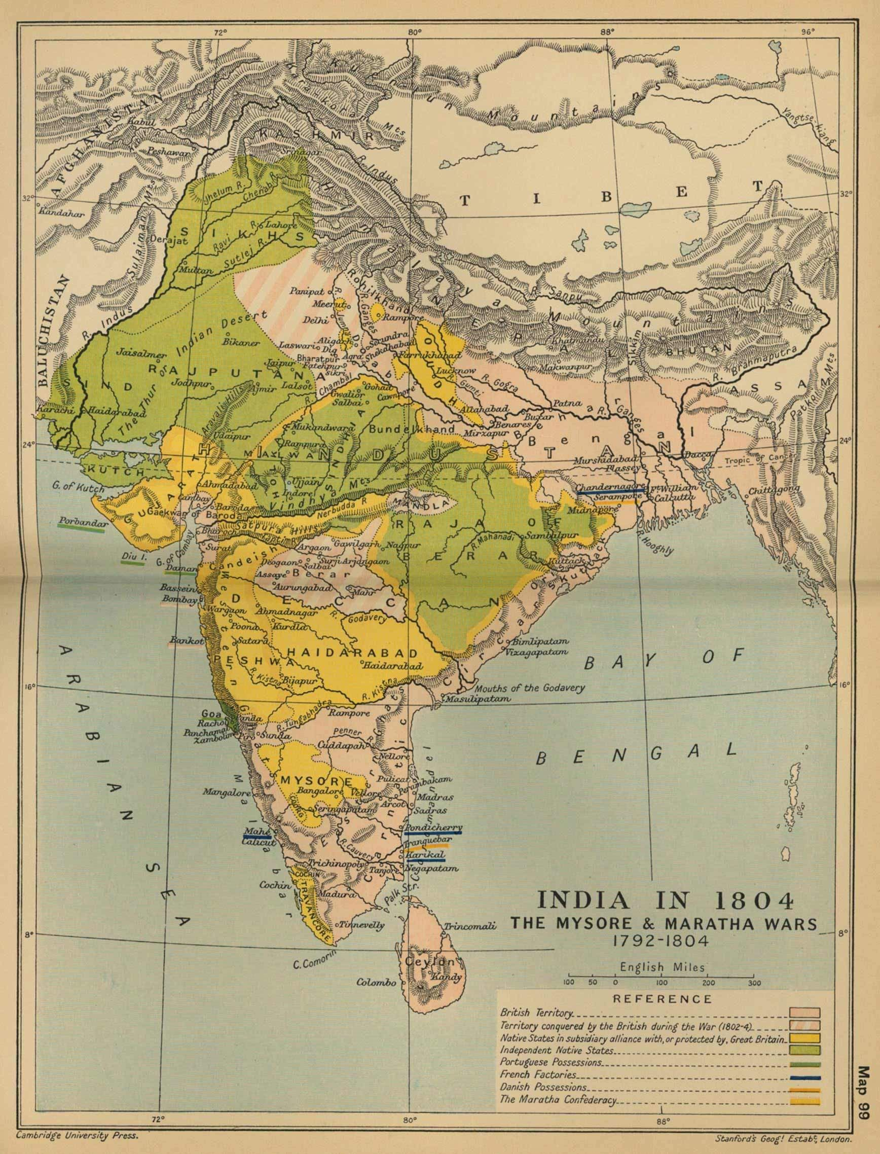 Historical maps india in 18 mapsof vintage maps of india historical maps india in 18 mapsof gumiabroncs Images
