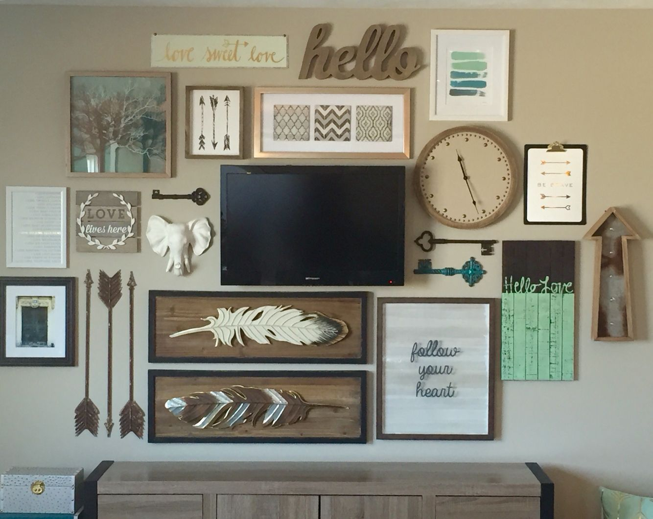 Pinterest Home All: Love All The Things And Colonies; Too Much On One Wall