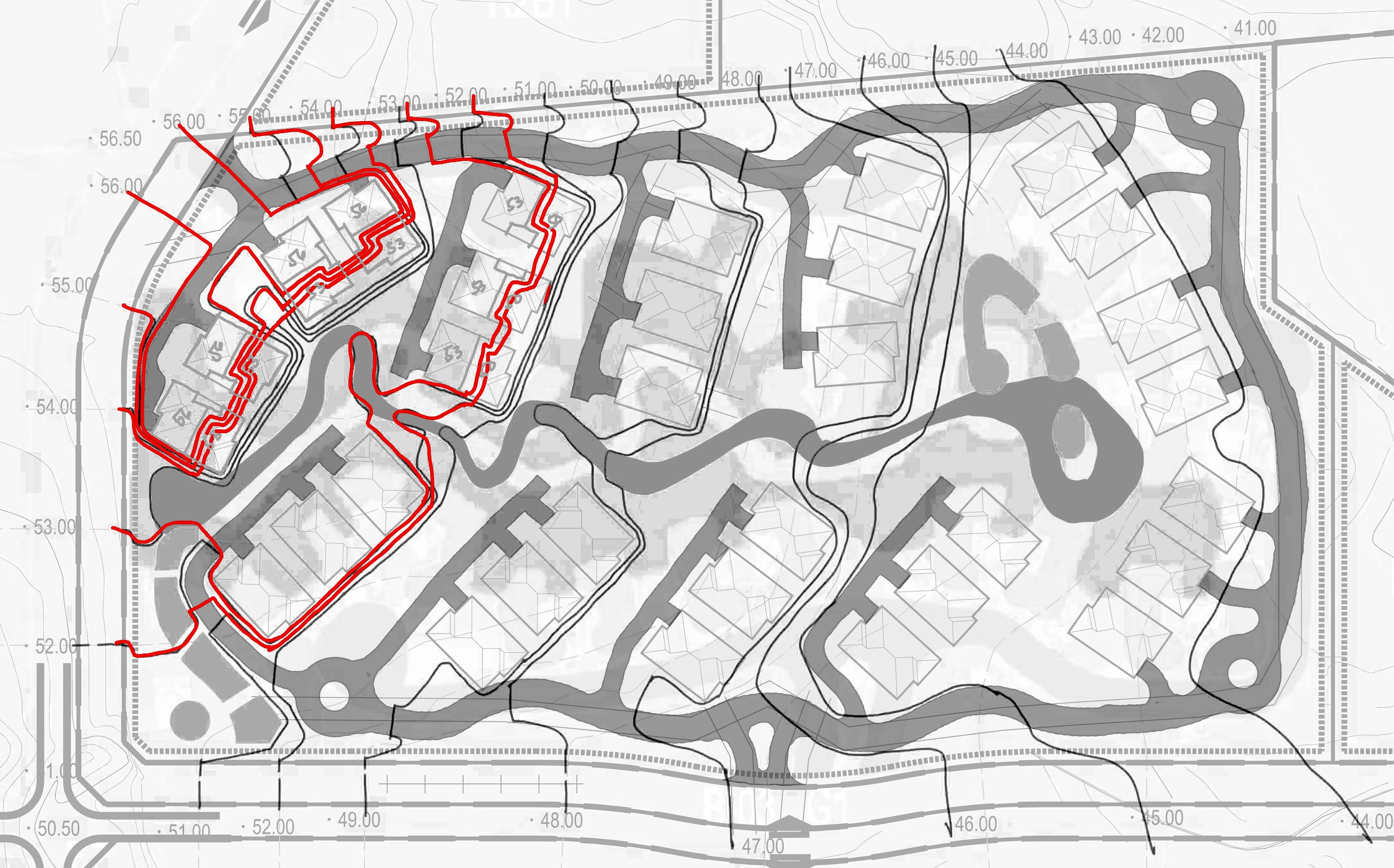 Contour Design Schematic Loop Road Mountain Contour Schematic Levels Landscape Master Plan Landscape Plans Concept Architecture
