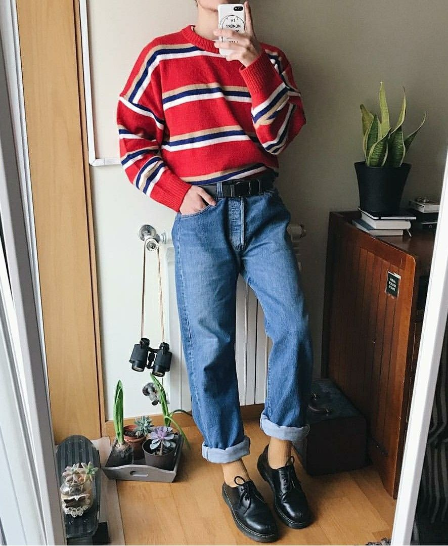 This Reminds Me Of You Also I Want To Make You Wear Bright Red Since I Think It Would Go Well With Your Sparkly Vintage Outfits Vintage Fashion Grunge Outfits
