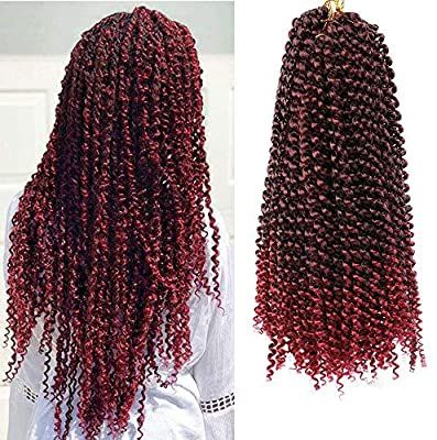 ELIGHTY Passion Twist Hair - 18 Inches Water Wave Crochet Braids Synthetic Heat Resistant Fiber - Soft, Lightweight, Stylish - Natural Braiding Extensions - 6 Packs TBG