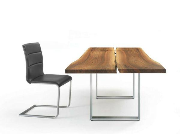 Tisch design holz  Esstische, Sitzbänke und Stühle von Girsberger - Leder | Chalet ...