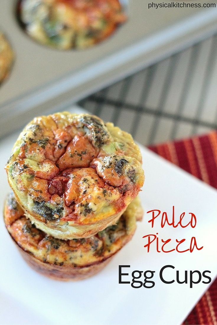 Paleo pizza egg cups you can reheat in seconds for an easy, healthy breakfast. Whole30 compliant and customizable.