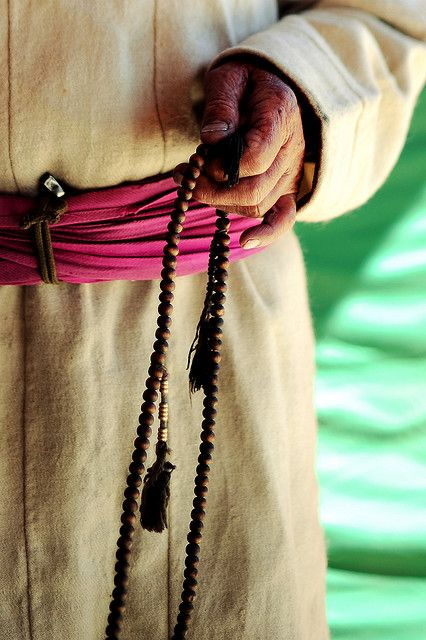 Buddhist Rosary  A mala is a set of beads commonly used by Hindus and Buddhists, usually made from 108 beads. Malas are used for keeping count while reciting, chanting, or mentally repeating a mantra or the name or names of a deity.