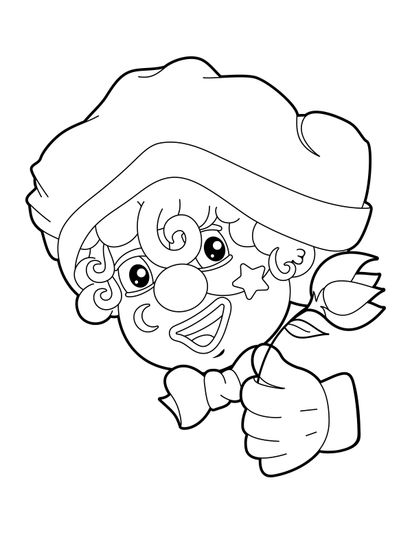 Free Printable Clown Face Coloring Page Download It At Https Museprintables Com Download Coloring Page Clown Face Coloring Pages Clown Faces Clown