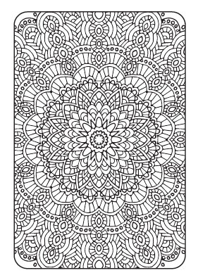 Art Therapy Printable Adult Coloring Book Downloadable