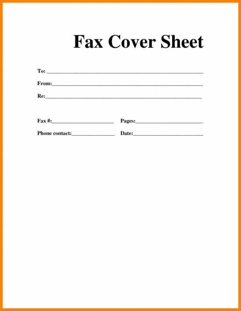 Printable Blank Microsoft Word Fax Cover Sheet Fax Cover