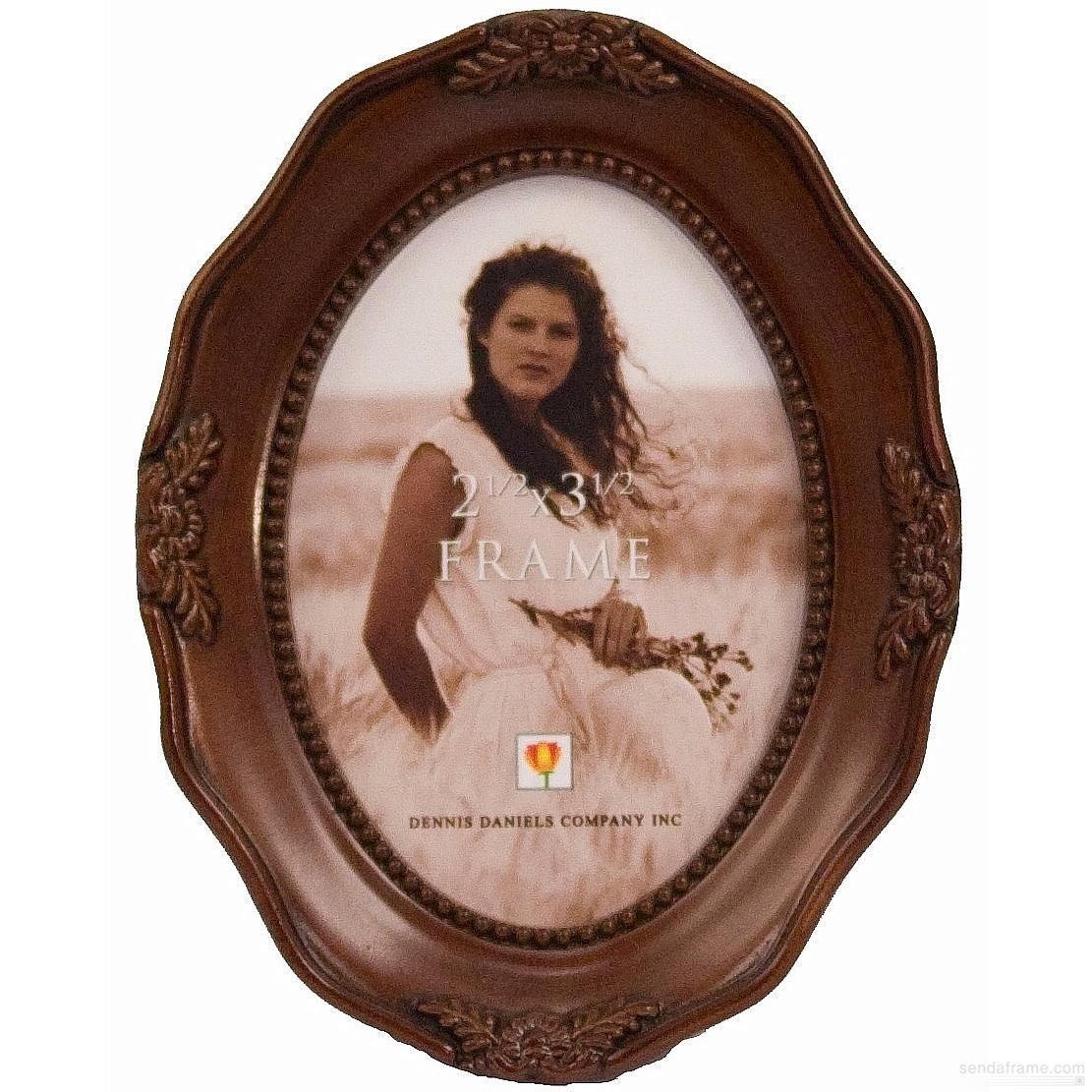 Oval walnut antiqued fancy by Dennis Daniels® picture ...