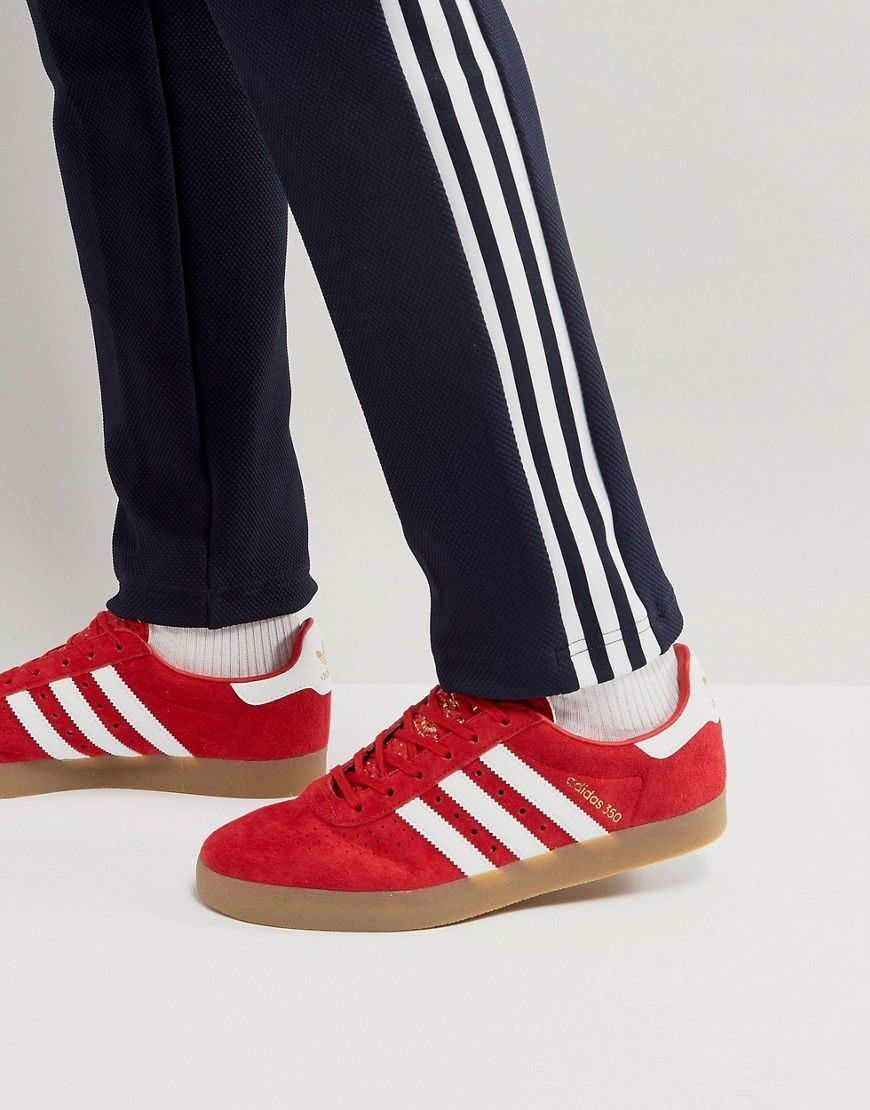 new arrivals bf33b affa3 ADIDAS ORIGINALS 350 SNEAKERS IN SCARLET - RED.  adidasoriginals  shoes