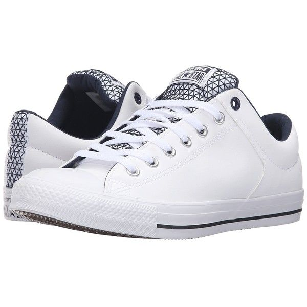 pretty nice 846cf 7abc3 Converse Chuck Taylor All Star High Street Ox (White Obsidian Black)...  ( 65) ❤ liked on Polyvore featuring men s fashion, men s shoes, men s  sneakers, ...