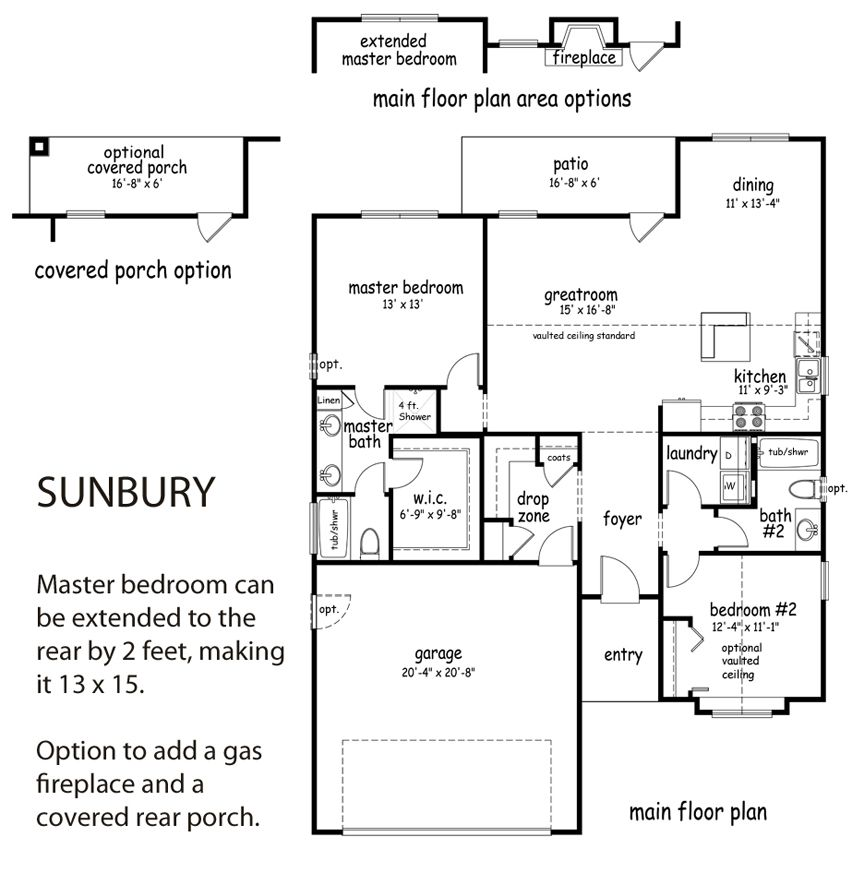 Bathroom Renovations Sunbury the sunbury floor plan - 2 bed/2 bath, 1,326 sq. ft with optional