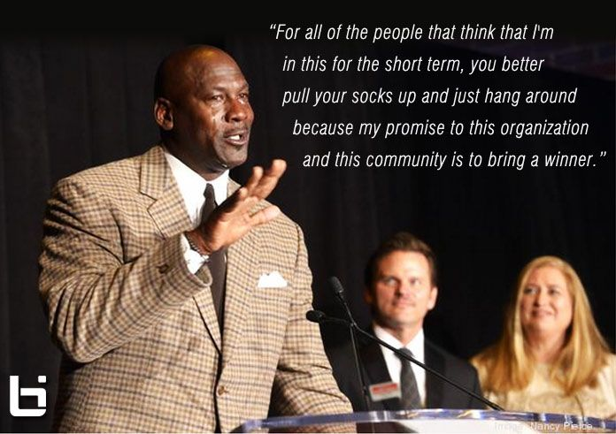 A tearful Michael Jordan accepts the Charlotte Business Person of the Year Award. 9 Minute Video Speech: http://ballislife.com/a-tearful-michael-jordan-accepts-cha…/