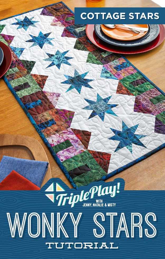 Triple Play-Cottage Star Table Runner