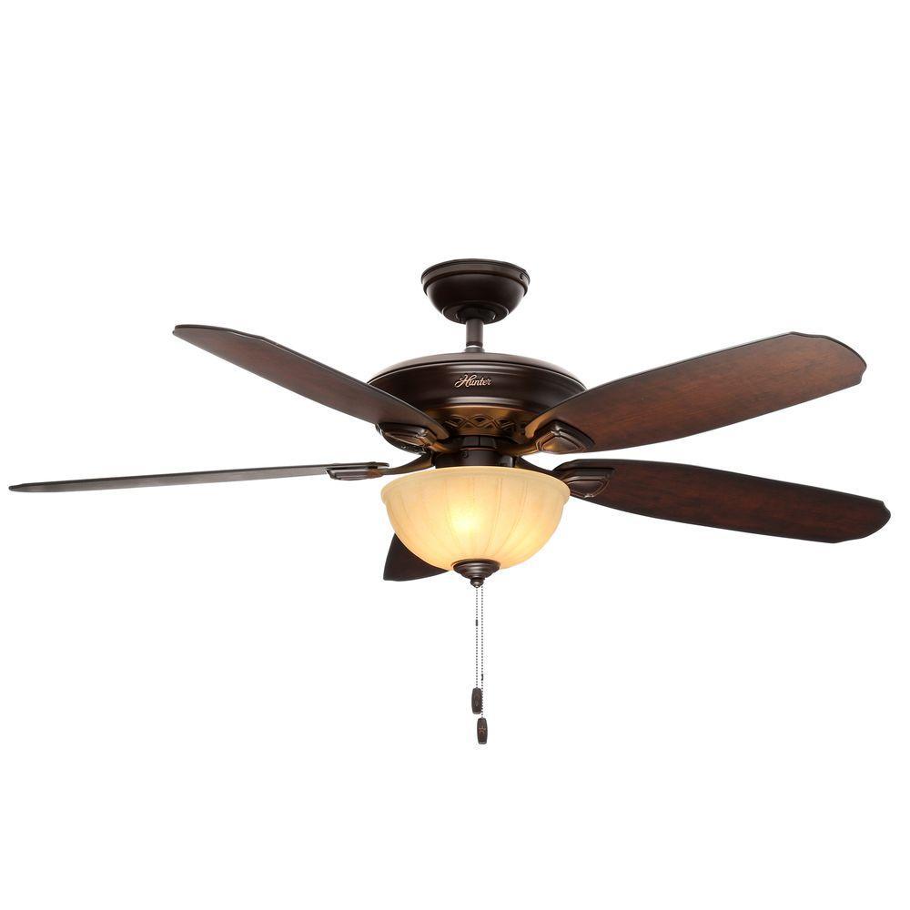 Hunter Markley 56 in. Indoor Onyx Bengal Bronze Ceiling Fan with ...
