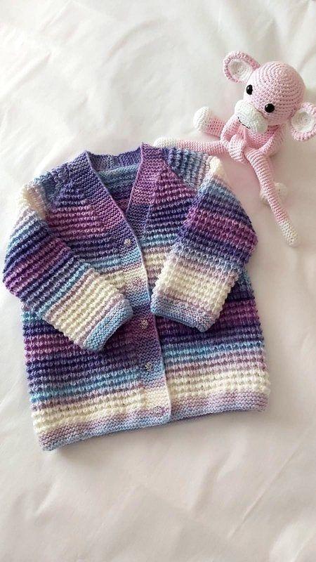 Hand Knitted Baby Cardigan, Batik Wool Cardigan, Baby Knitting Cardigan, Kids Cardigan, Child Sweater