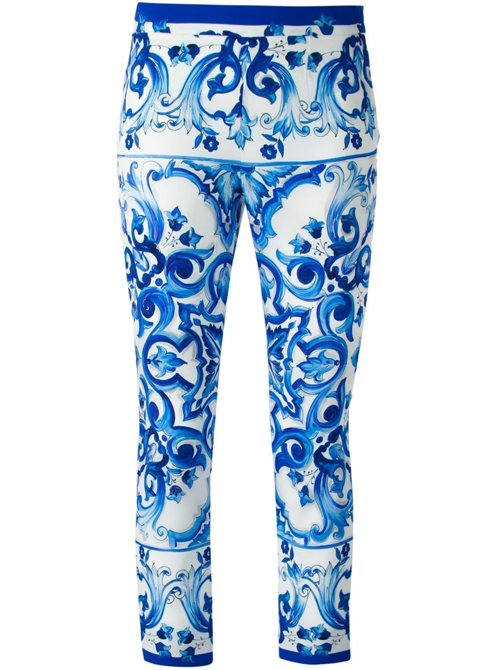 cropped slim fit trousers - Blue Dolce & Gabbana rh4ORe