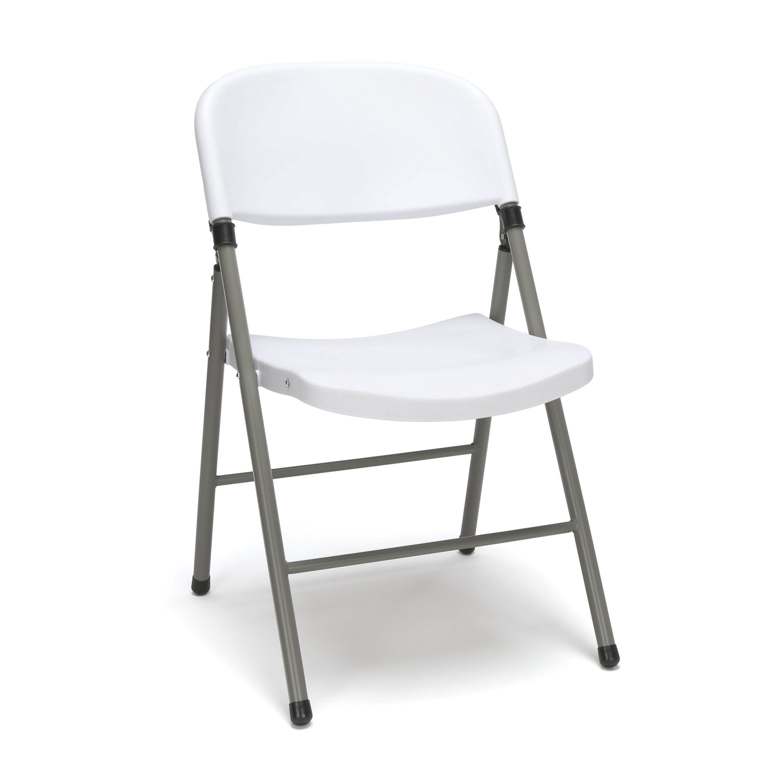Ofm Essentials Collection Plastic Folding Chair Pack Of 4 In