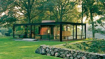 GLASS HOUSE: New Canaan, EE UU Todo un ejemplo de sencillez, contención y pureza.