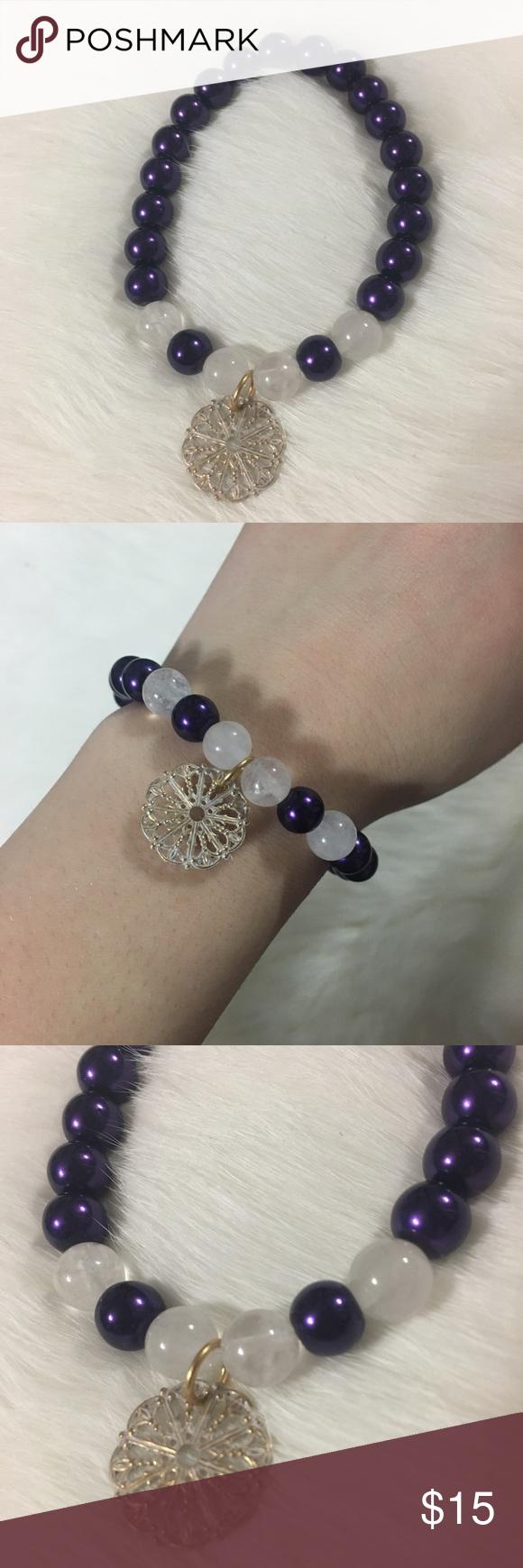 Handmade flower bracelet boutique white flowers handmade and