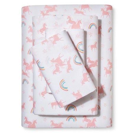 Unicorns Printed Cotton Sheet Set Multicolor Pillowfort