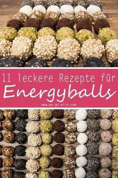 11 leckere gesunde Pralinen und Energyballs Rezepte #workoutfood