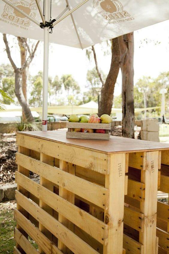 Bekannt Comment fabriquer un bar en palette pour le jardin ? | Bar  JE88