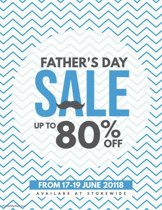Father\u0027s Day Sale Coupon Discount Poster Flyer Template Father\u0027s