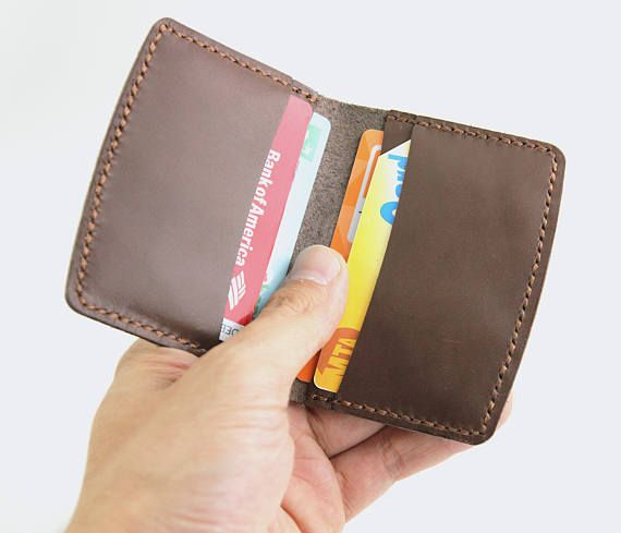 Leather Card Wallet Business Card Holder Leather Card Sleeve