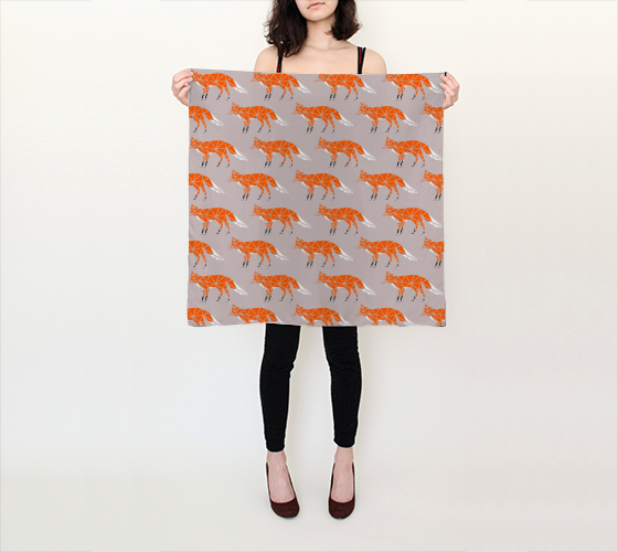 Foxes Square Scarf