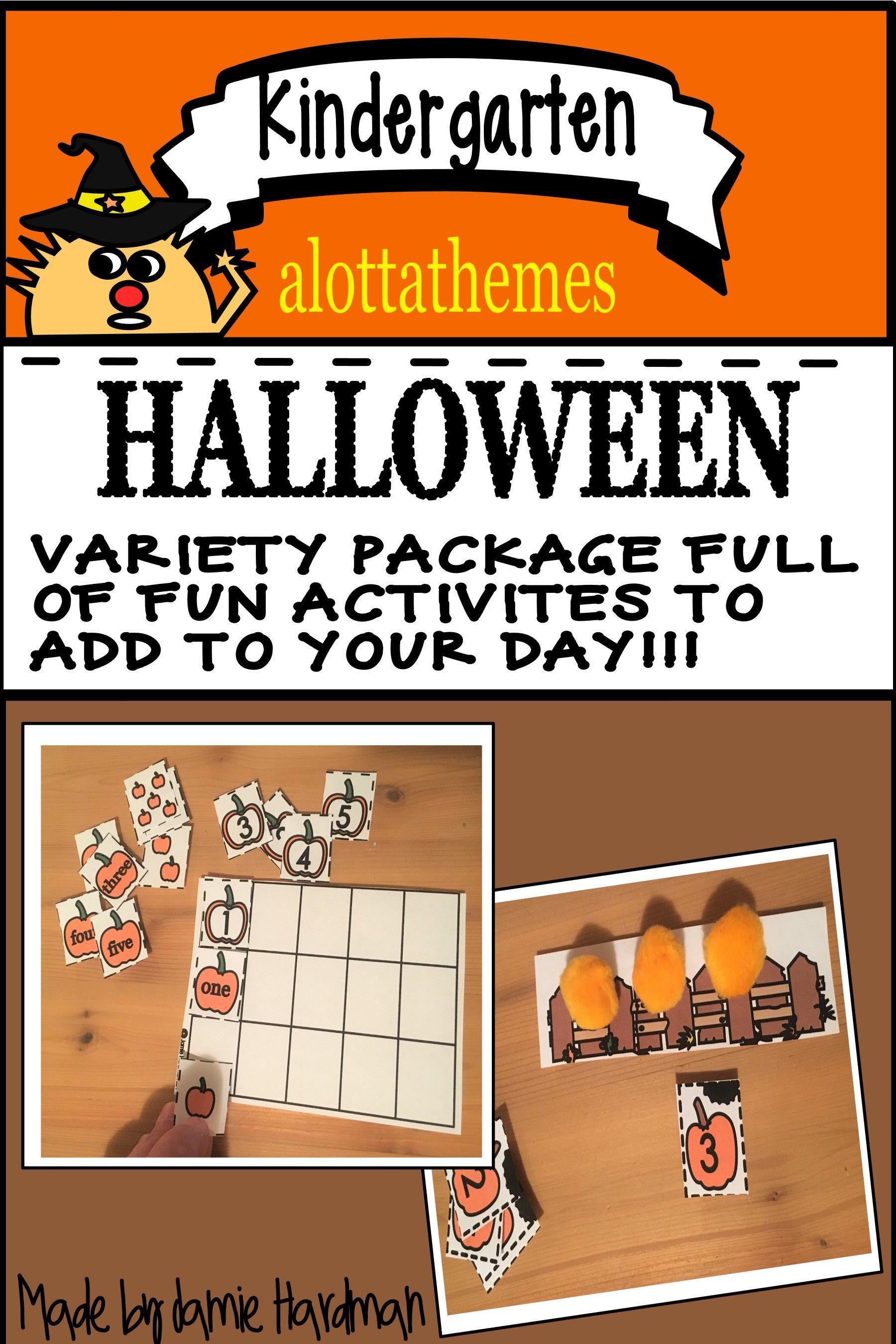 Halloween Math Center Ideas For Kindergarten