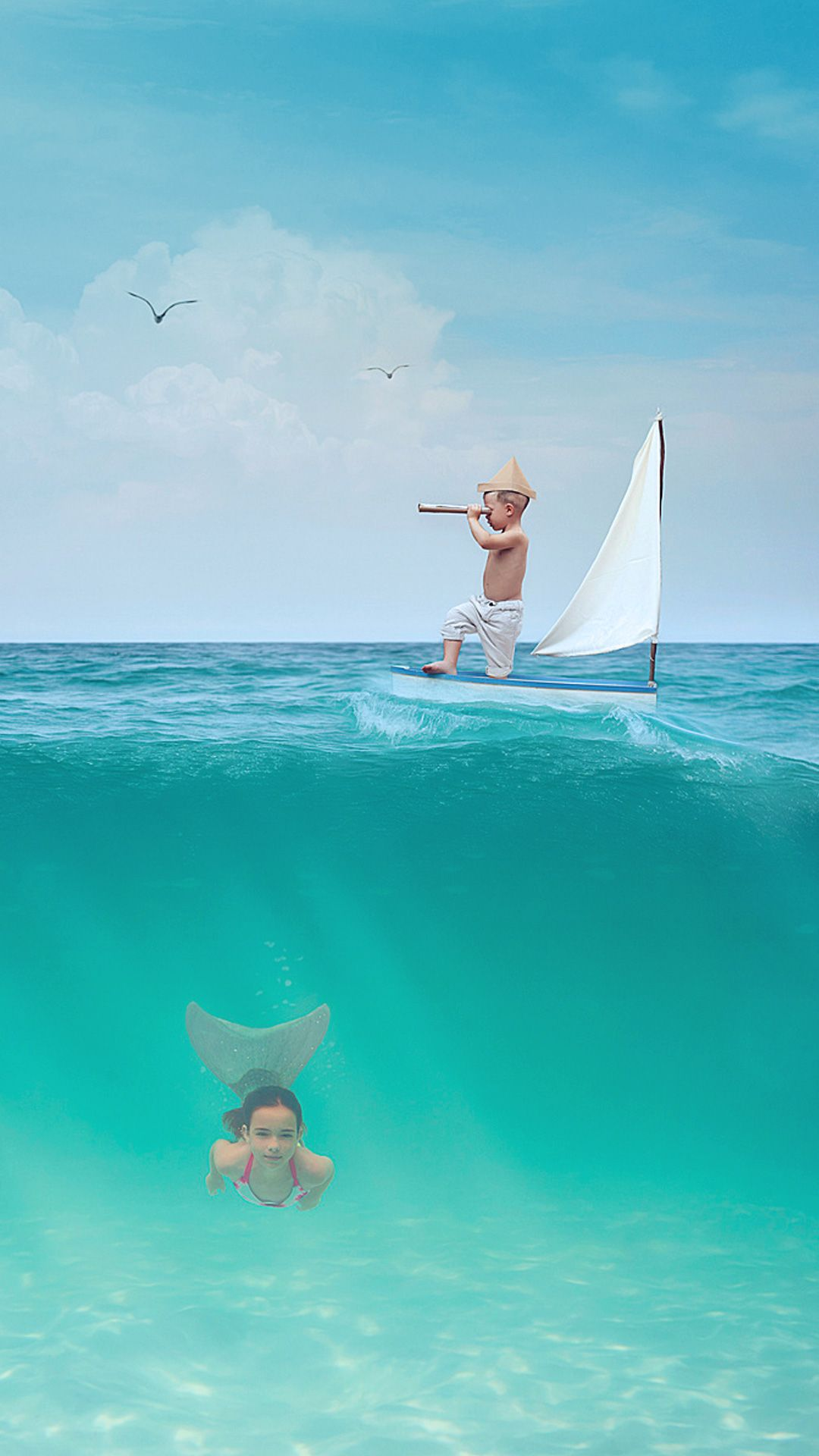 Kids By The Sea Xiaomi Mi5 Stock Wallpapers Tap To See More Iphone