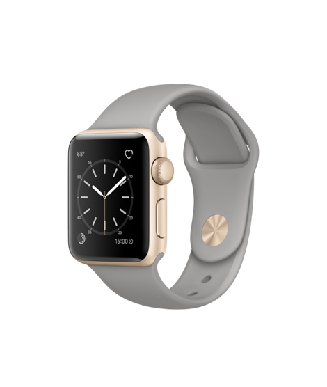 Introducing Apple Watch Series 2 featuring built-in GPS in a 38mm Gold  Aluminium… 946e3930f38b