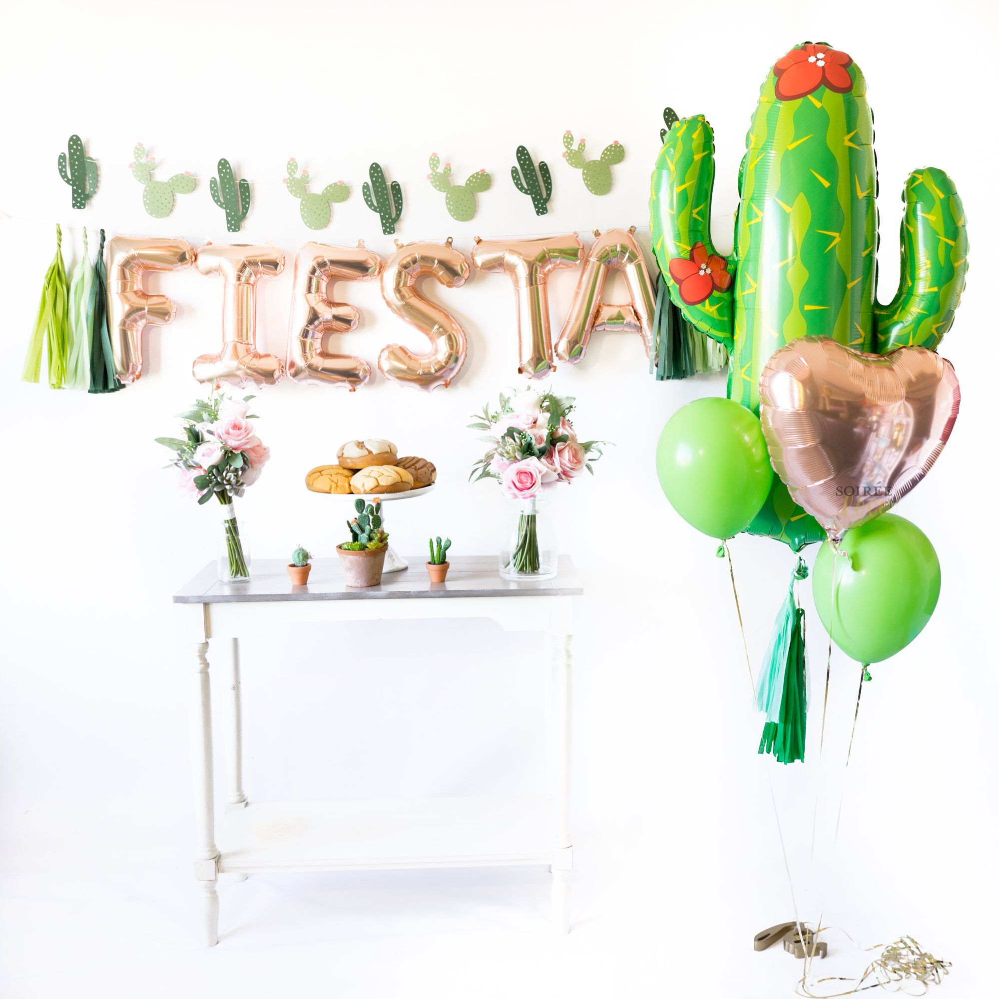 Rose Gold Fiesta Balloon Party Box Fiesta Party Decorations