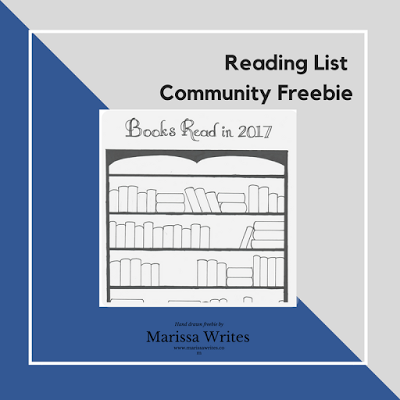 Free Book Shelf Book Tracker for 2017  Perfect for BuJo tracking, and coloring fans