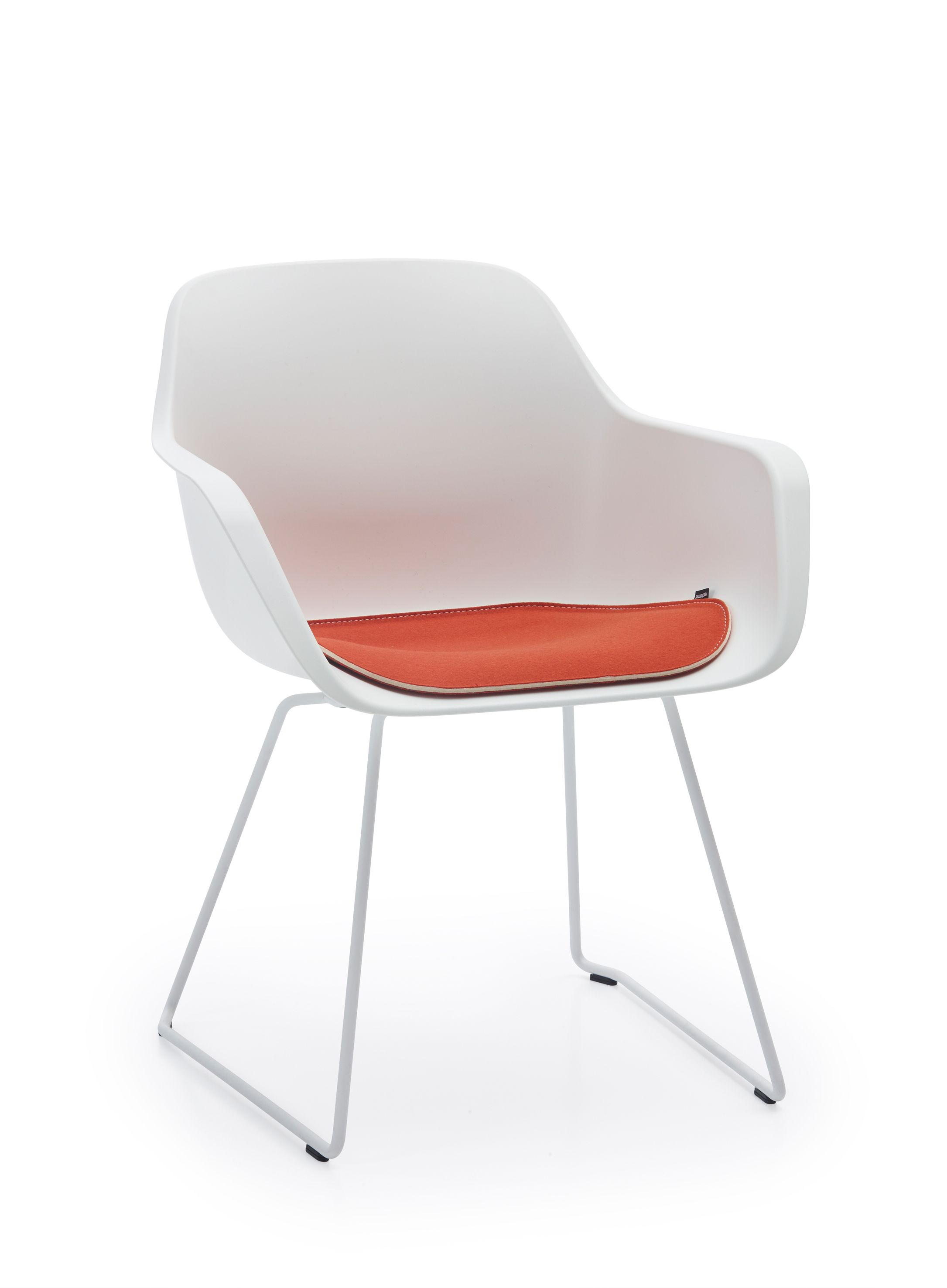 Captain\'s Sliding chair with optional cushion (orange) by Extremis ...