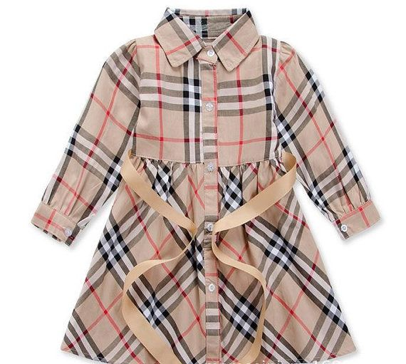 86ad7c53a1e79 Toddler Little Girls Burberry Inspired Plaid Dress  26