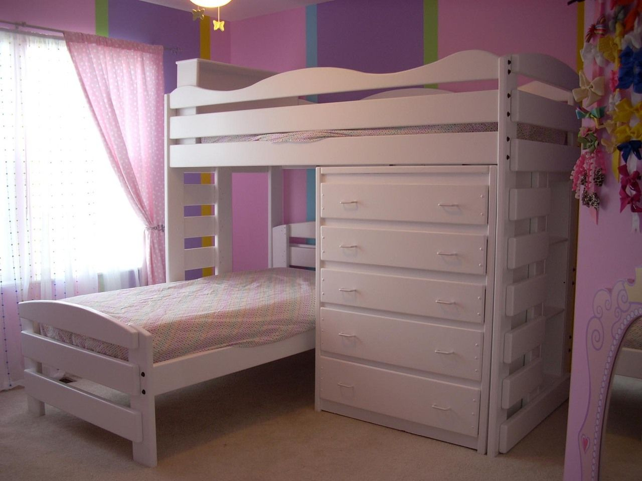 Wooden loft bed with slide   Interesting L Shaped Bunk Beds Design Ideas Youull Love  Bunk